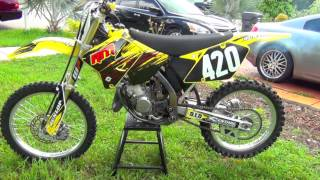 2. 2003 Suzuki RM 125 Walk Around Start up