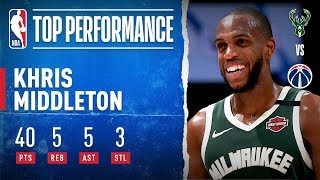 Middleton GOES OFF For 40 PTS On The Road! by NBA