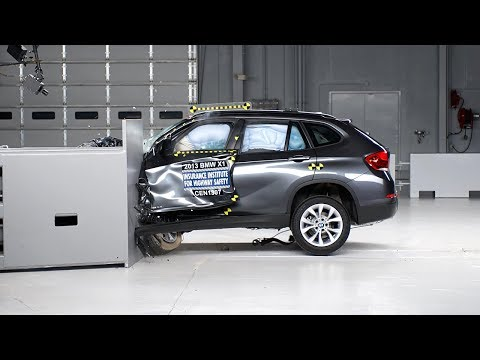 X1 - 2013 BMW X1 40 mph small overlap IIHS crash test Overall evaluation: Marginal Full rating at http://www.iihs.org/ratings/rating.aspx?id=1806.