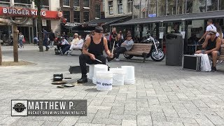 Video Matthew Pretty - The Bucket Boy From Las Vegas Performing At The Leidse Square In Amsterdam 2017! MP3, 3GP, MP4, WEBM, AVI, FLV Agustus 2019