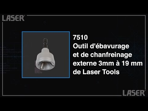 Outil d'ébavurage et de chanfreinage externe 3mm à 19 mm de Laser Tools