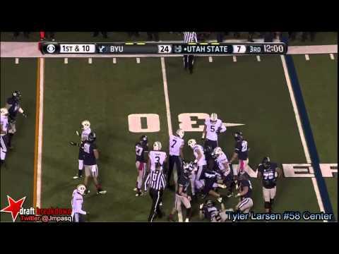 Tyler Larsen vs BYU 2013 video.