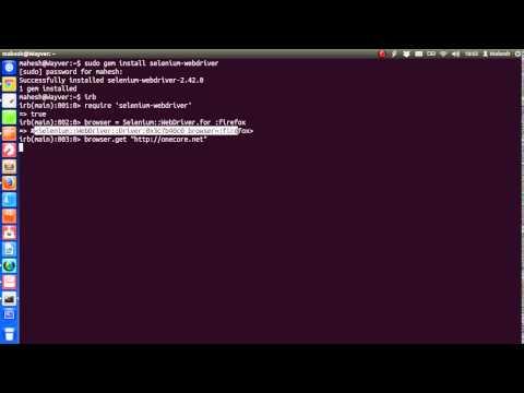 Selenium Ruby Webdriver Tutorial