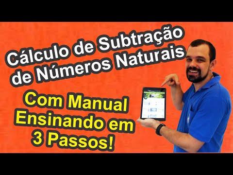 Cálculo de Subtração de Números Naturais em 3 Passos-Matemática Básica (Fast-Food!)