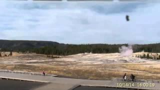 Oct 14, 2014 Upper Gesyer Basin Streaming Camera Captures