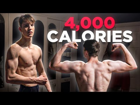 4000 Calorie Full Day of Eating to Gain Weight | Skinny Kid Bulking Up