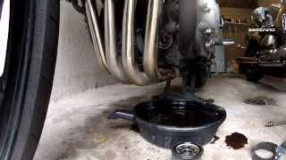 9. How to change motor oil and oil filter, Yamaha FZ1 Fazer 1000