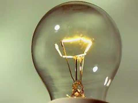 bulb - Slow motion of how a light bulb works.