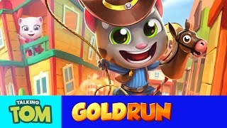 Join the adventure in the Wild West! Avoid crazy obstacles and old-timey vehicles on the frontier and catch the robber with Cowboy Tom in this fantastic new Talking Tom Gold Run update. Download Talking Tom Gold Run:  https://goo.gl/XWwYgCSubscribe to my YouTube channel: https://www.youtube.com/user/TalkingTomCat?sub_confirmation=1 I'm Talking Tom, and I'm the original talking tomcat. It's great you've stopped by. If there's fun to be had, this cool cat and my friends are probably having all of it!You should definitely check out my shorts, trailers, and gameplay videos featuring me and my friends. Also, keep up to date with my crazy thoughts and ideas via my video blog Talking Tom Brainfarts. You could try looking, but you won't find a funnier guy anywhere else! Stick around! Don't forget to explore the hilarious world of My Talking Tom. Adopt me as your very own virtual pet, dress me up the latest, greatest, and funniest outfits ever, play some really cool mini games and join in the fun. http://MyTalkingTom.comNew videos get uploaded all the time. But while you wait, check out my friends' channels too! Talking Angela and Talking Ginger have some great stuff for you to watch, and you can find even more videos over on the Talking Tom and Friends channel.Stay awesome guys,Tom :)For more fun…▶︎ enjoy our Animated Series on Talking Tom and Friends channel: https://www.youtube.com/TalkingFriends▶︎ here's the very popular Talking Angela's channel: https://www.youtube.com/TalkingAngela▶︎ don't miss out on Talking Ginger's YouTube channel: https://www.youtube.com/TalkingGingerTalking Tom is also known as: Sprechender Kater Tom, Tom qui parle,  Tom Falante, Tom el gato parlante, Konuşan Tom, توم المتكلم