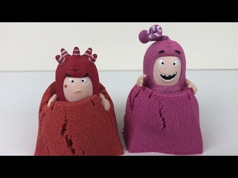Oddbods Toys and Kinetic Sand