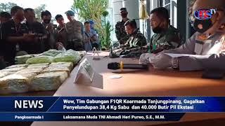 Wow, Tim Gabungan F1QR Koarmada Tanjungpinang, Gagalkan Penyelundupan 38,4 Kg Sabu dan 40.000 Butir (HARIANSIBER TV)