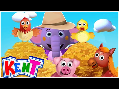 Old MacDonald Had A Farm | Kent The Elephant | Nursery Rhymes & Kids Songs