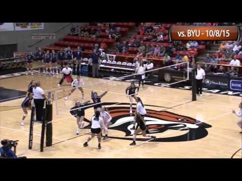 HIGHLIGHTS: Women's Volleyball vs. BYU - 10/8/15