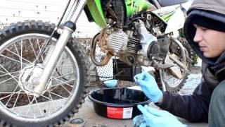 8. Kawasaki Oil Change klx110L KLX 110 klx110 2010 Oil Filter service