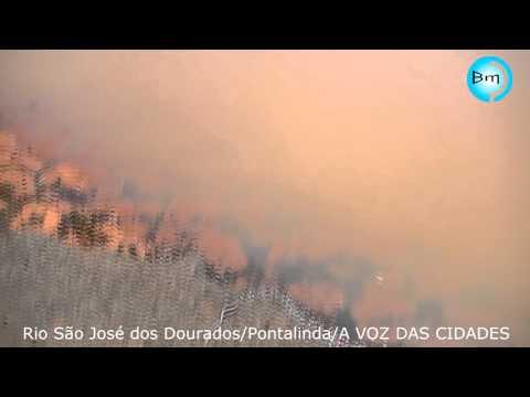 EXCLUSIVO - VÍDEO MOSTRA A SITUAÇÃO DA PONTE SOBRE O RIO SÃO JOSÉ DOS DOURADOS - DOMINGO - 17-01-16