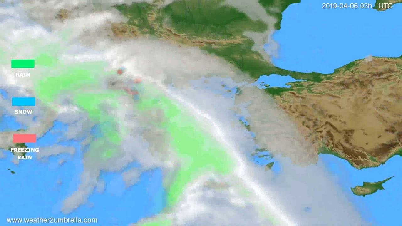 Precipitation forecast Greece // modelrun: 12h UTC 2019-04-02