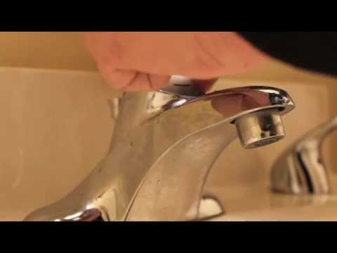 How to repair moen bathroom faucet dripping water – cartridge removal replace single lever