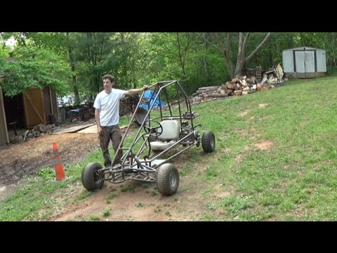 testing the two motor off road go kart