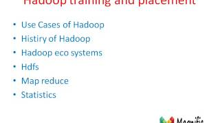 Hadoop Training And Placement