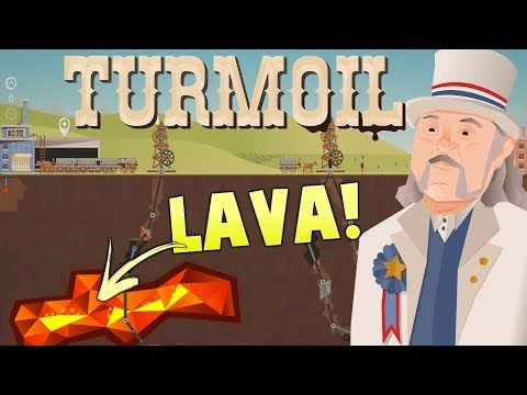 Turmoil The Heat Is On Gameplay - Lava, Gambling and Deep Oil Drilling -  Turmoil DLC Gameplay (видео)
