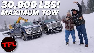 Only One Truck Crushes It! 2020 Ford F350 vs GMC 3500 HD vs The World's Toughest Towing Test! by The Fast Lane Truck