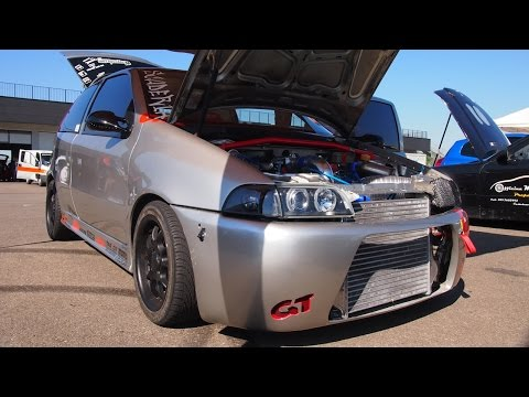fiat punto gt turbo 500hp drag racing
