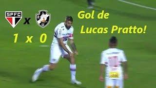 Gol de Lucas Pratto!!! Cueva recebe, faz boa jogada e serve o atacante argentino, que bate rasteiro e abre o placar para o Tricolor!SÃO PAULO 1 X 0 VASCOSÃO PAULO 1 X 0 VASCOSÃO PAULO 1 X 0 VASCOSÃO PAULO 1 X 0 VASCOBRASILEIRÃOSÃO PAULO 1 X 0 VASCO