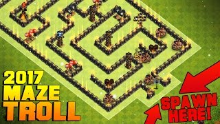 Video Clash of Clans | UNBEATABLE MAZE TROLL BASE 2017 | WEIRD ANTI MAX TH11 TROLL BASE + PROOF MP3, 3GP, MP4, WEBM, AVI, FLV Juni 2017