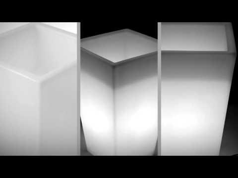 LED Pflanzkübel Trapez groß von myfab