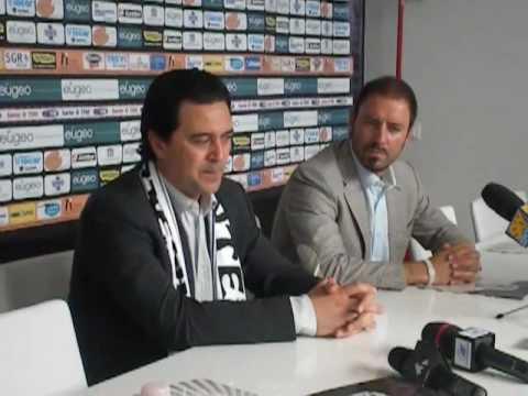 Presentación de Ficcadenti como nuevo entrenador del Cesena