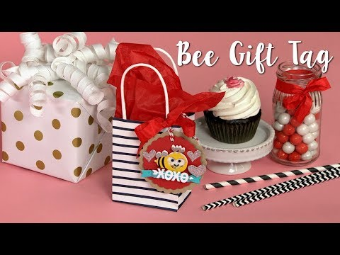 How to Make a Bee Gift Tag!