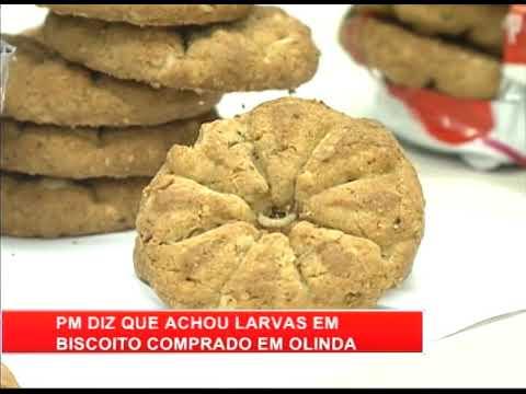 [RONDA GERAL] PM diz que achou larvas em biscoito comprado em Olinda