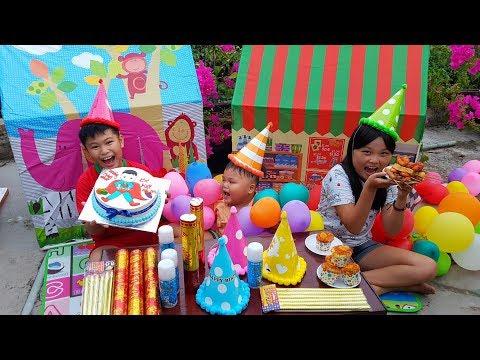 Trò Chơi Bé Vui Bé Pin Sinh Nhật ❤ChiChi ToysReview TV❤ Đồ Chơi Trẻ Em Baby Fun Song Bài Hát Vần Thơ