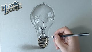 How I draw a lightbulb - realistic drawing