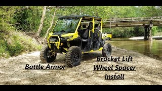 3. 2019 Canam Defender XMR Bracket Lift & Wheel spacers Install