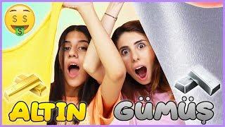 Balondan Ne Çıkarsa Slime Challenge Altın vs Gümüş Slaym Eğlenceli Çocuk Videosu Dila Kent
