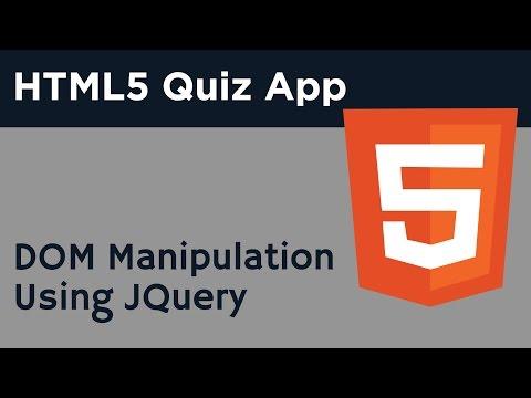 HTML5 Programming Tutorial | Learn HTML5 Quiz Application - DOM Manipulation Using JQuery