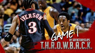 Throwback: Allen Iverson 48 vs Kobe Bryant 15 Duel Highlights (NBA Finals 2001 Game 1), Classic!