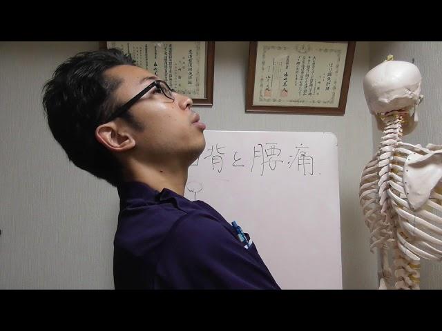 猫背が腰痛を引き起こすワケ