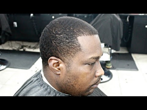 MUST SEE! LOW CAESAR WITH TAPER  BEFORE & AFTER HAIRCUT