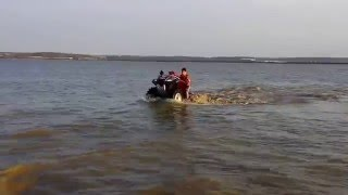 Me ( 12yr )  water wheeling the Honda rincon 680.  THANK YALL FOR 200 SUBS