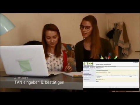 Prüfungsanmeldung an der Technischen Hochschule Mittelhessen (THM)