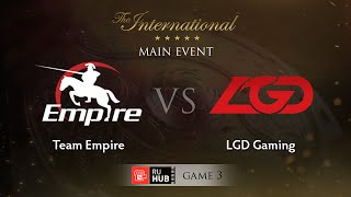 LGD.cn vs Empire, game 3