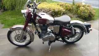 2. 2012 Royal Enfield C5 Maroon/Chrome