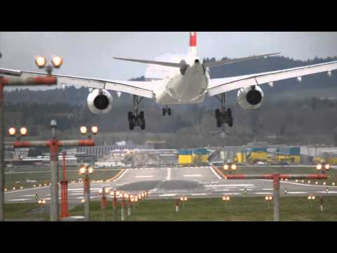 So it was pretty windy at Zürich Airport yesterday. This landings are looking kind of terrifying.