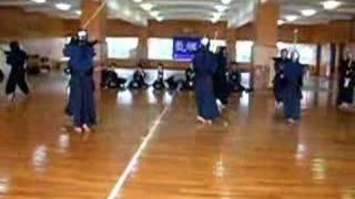 Kawachinagano-shi Japan  city photo : kendo practice at my Japanese Jr High school