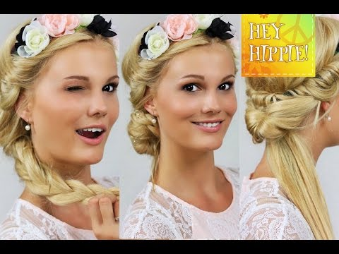 FESTIVALFRISUREN MIT HAARBAND - 4 Frisuren Step By Step| Hey Hippie