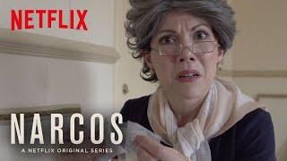 Narcos   Abuela Visits The Set   Netflix