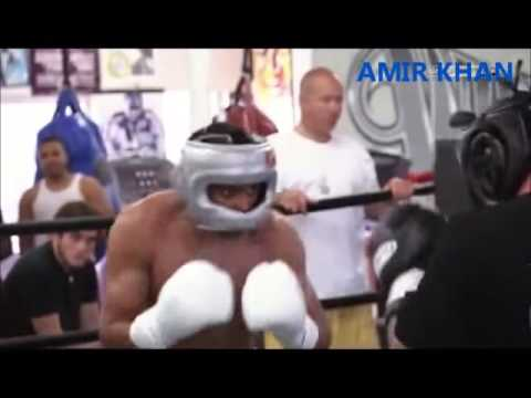 Boxing Super Star Amir Khan in a brutal spar Wild Card Gym (видео)