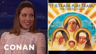 Video The Catholic League Condemned Aubrey Plaza's New Movie  - CONAN on TBS MP3, 3GP, MP4, WEBM, AVI, FLV September 2018
